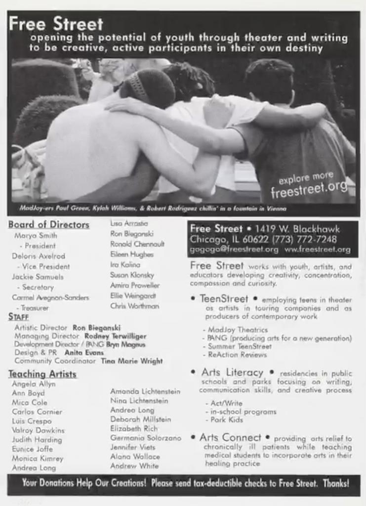 Free Street Programs- 2001